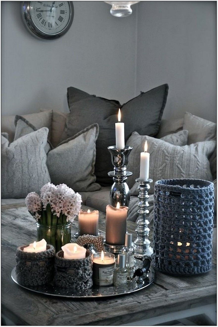 Modern Living Room Table Decor