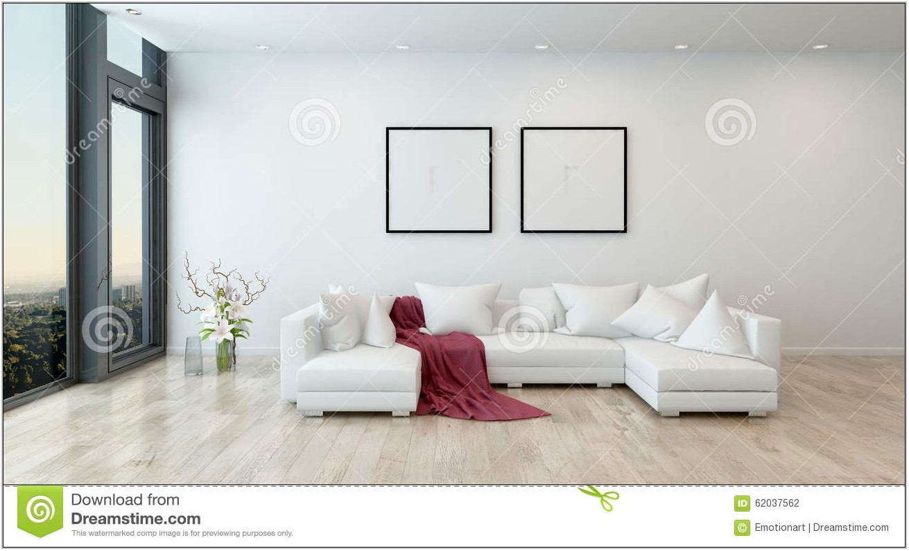 Modern White Sofa Living Room