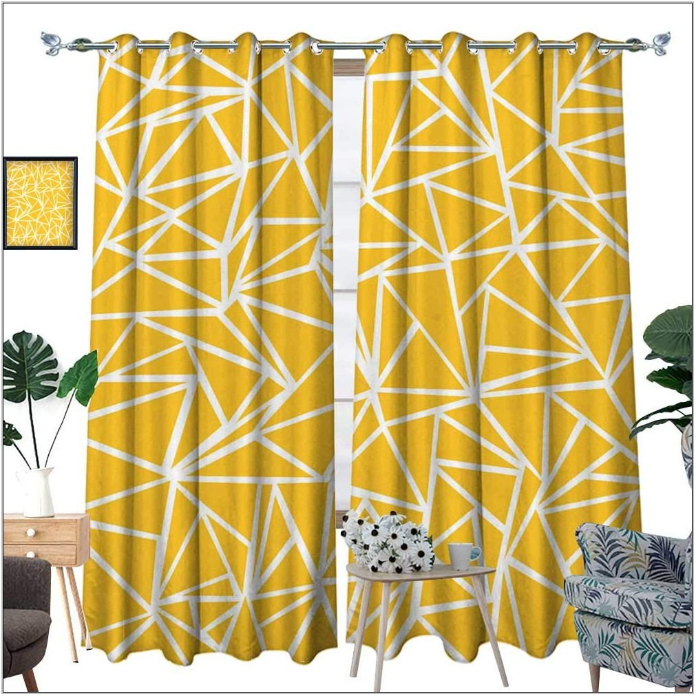 Mustard Yellow Curtains For Living Room