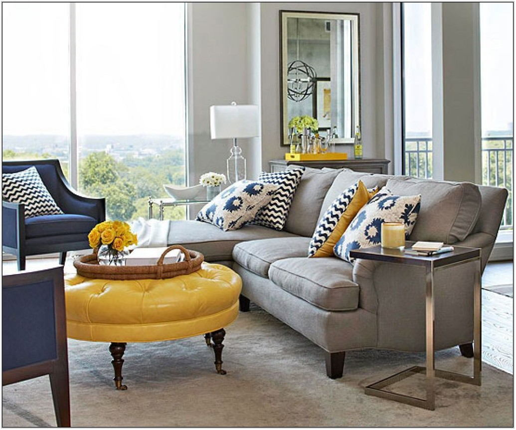 Navy Blue And Grey Living Room