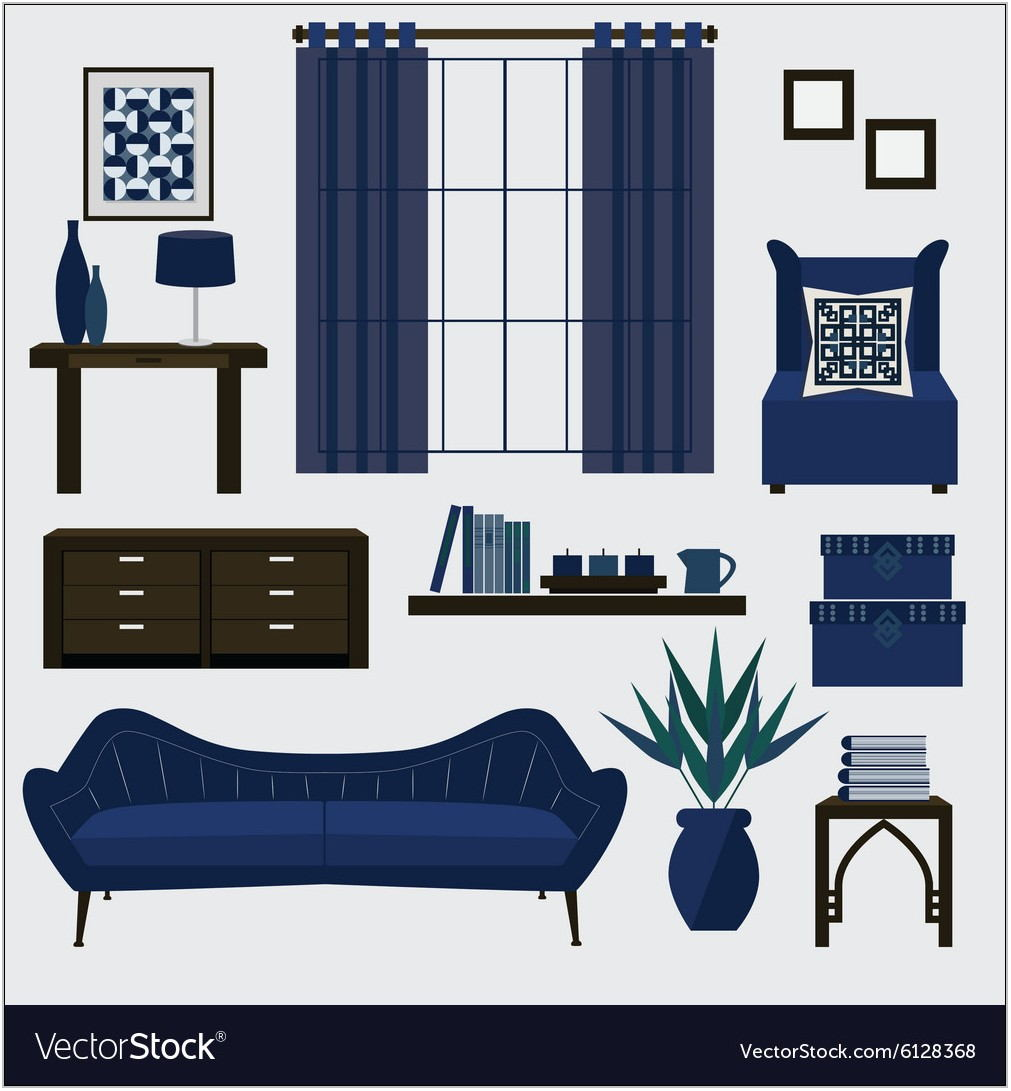 Navy Blue Living Room Accessories