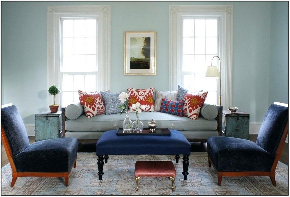 Navy Blue Rug In Living Room