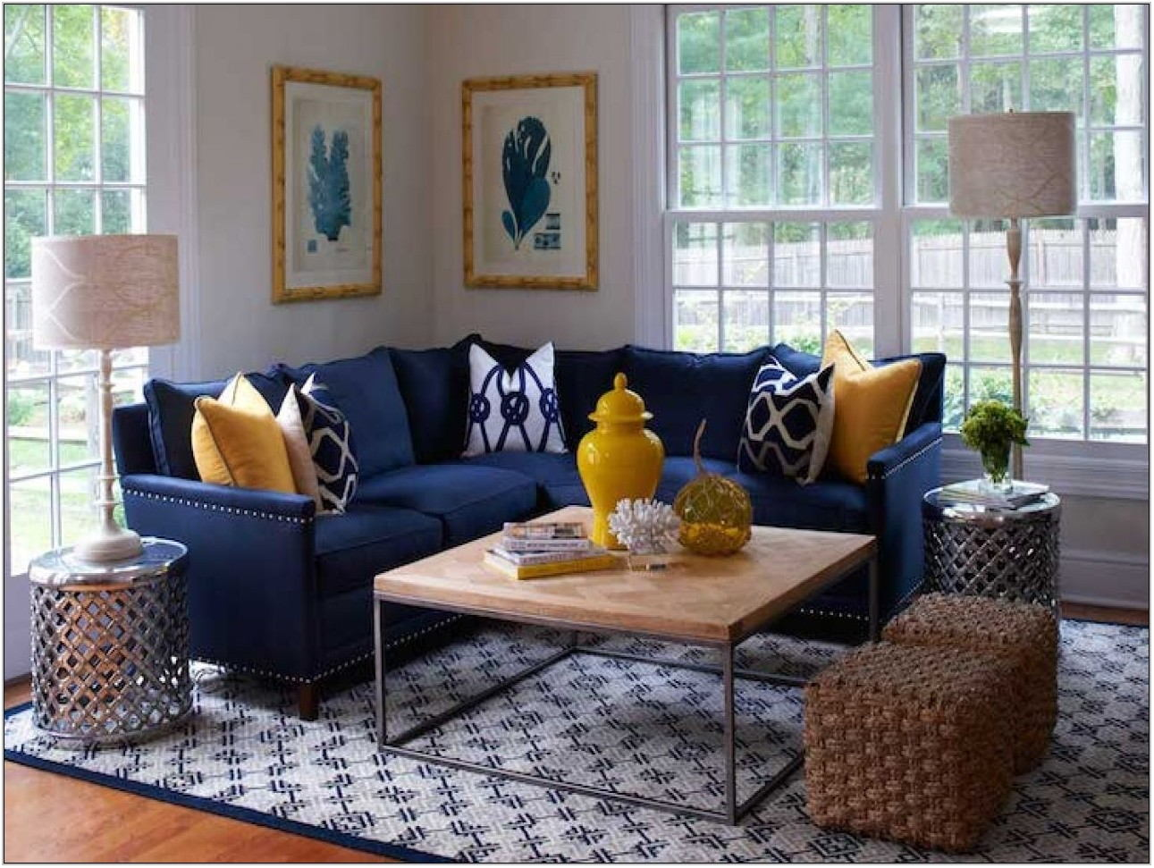 Navy Blue Sofa Living Room Ideas