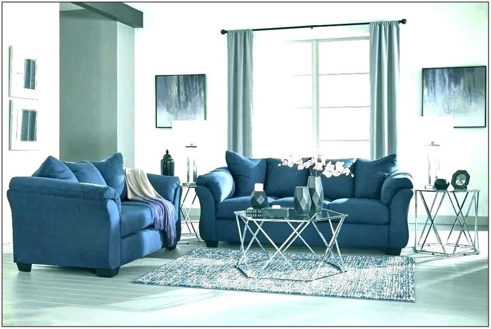 Navy Blue Sofa Living Room