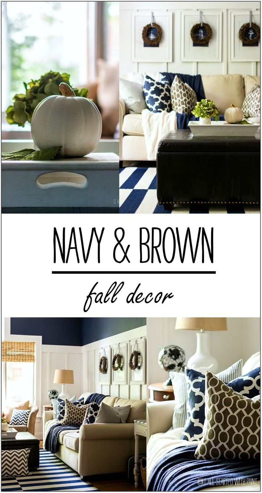 Navy Decor Living Room