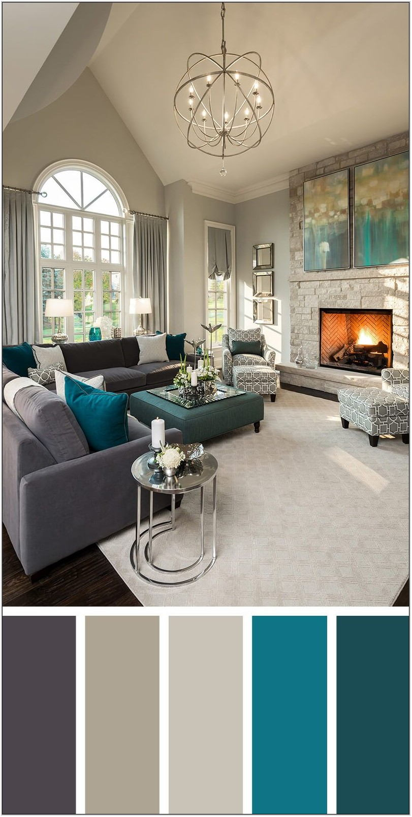 Neutral Color Scheme Living Room