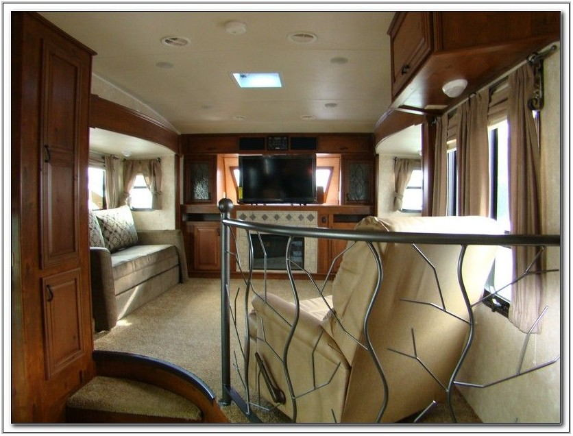 Open Range Travel Trailer Front Living Room