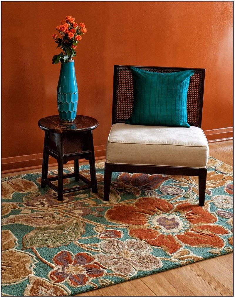 Orange And Turquoise Living Room Decor