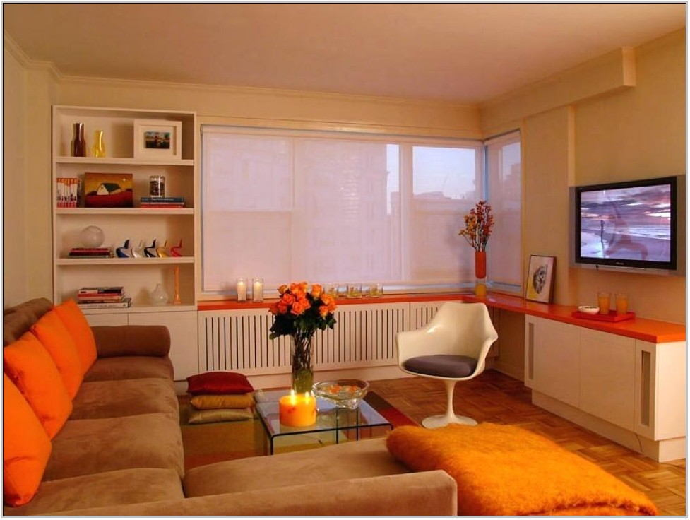 Orange Brown Living Room