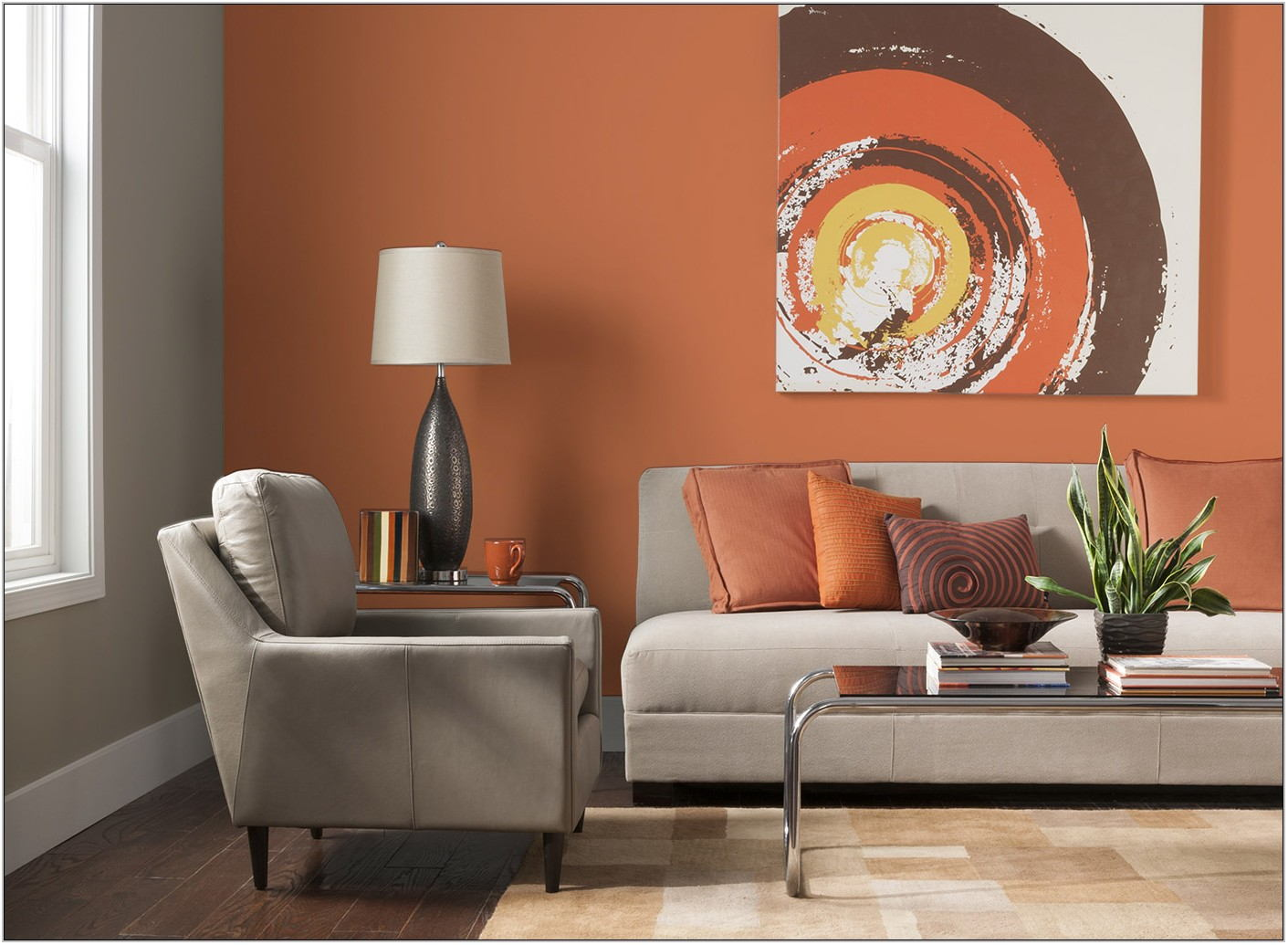 Orange Paint Colors For Living Room