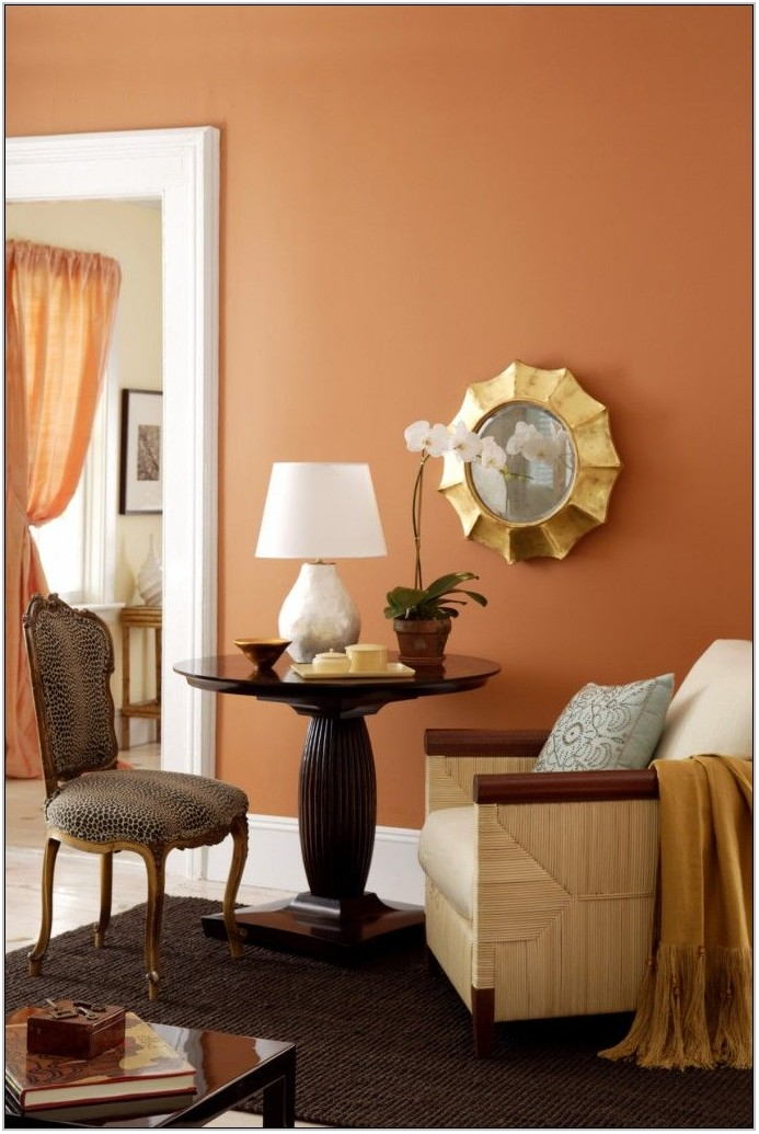 Orange Paint Living Room