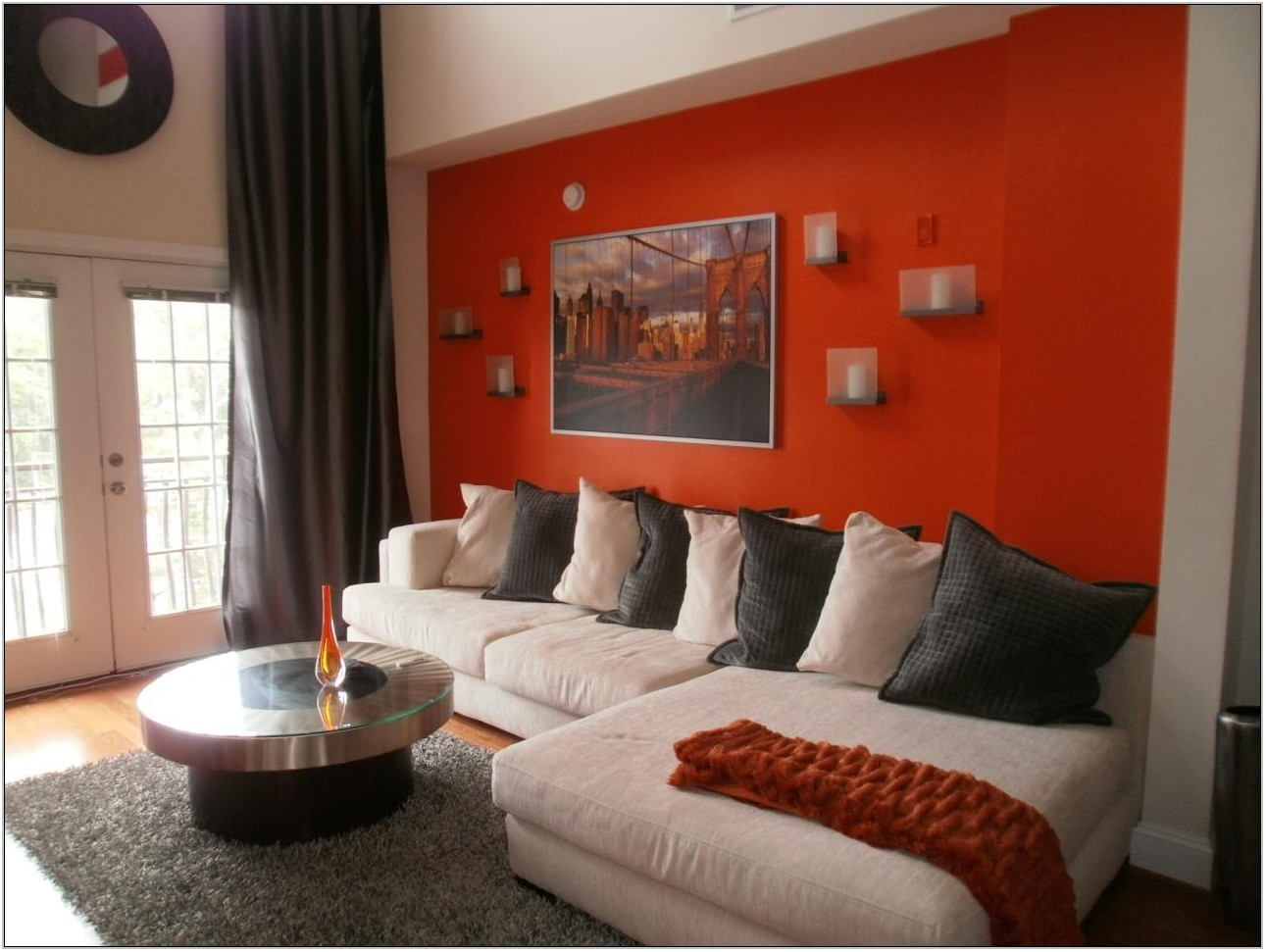 Orange Walls Living Room