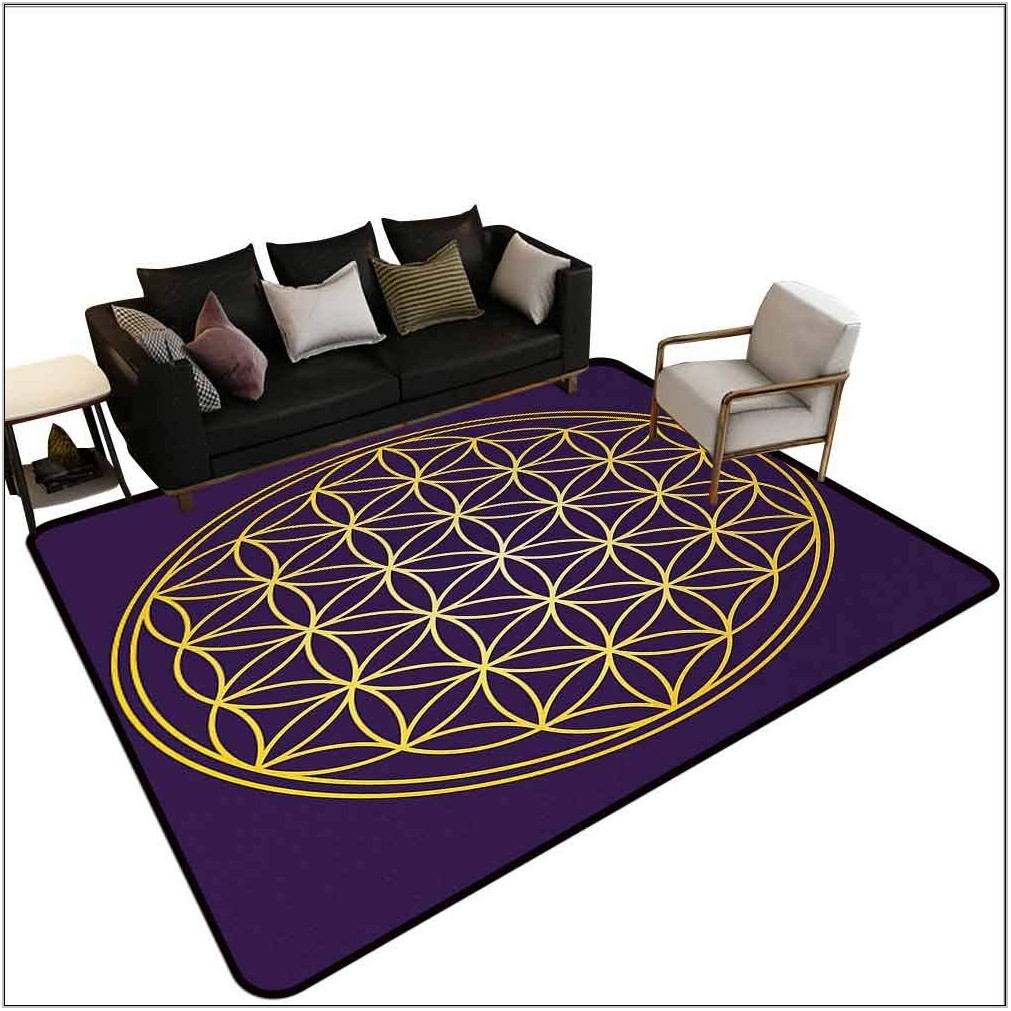Overlapping Rugs Living Room