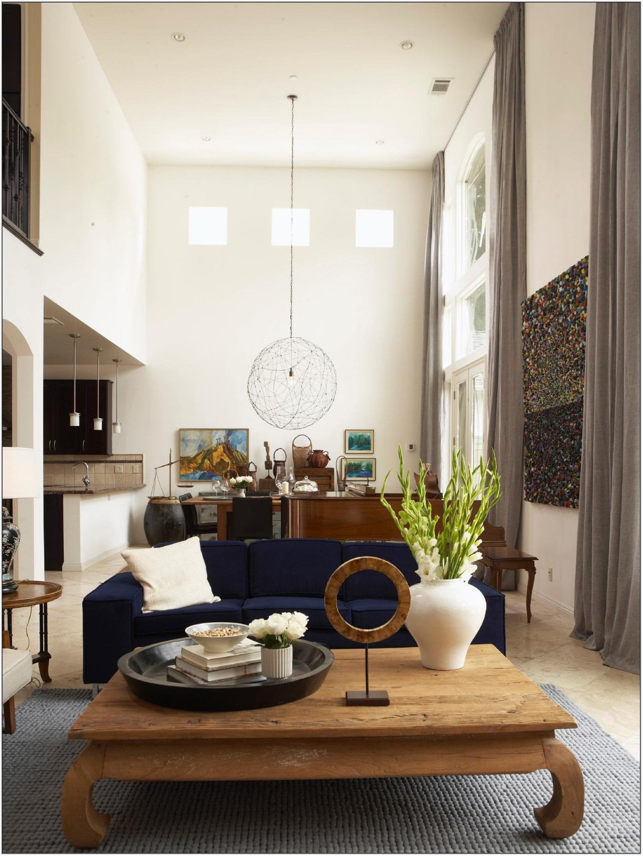 Paint Colors For High Ceiling Living Room