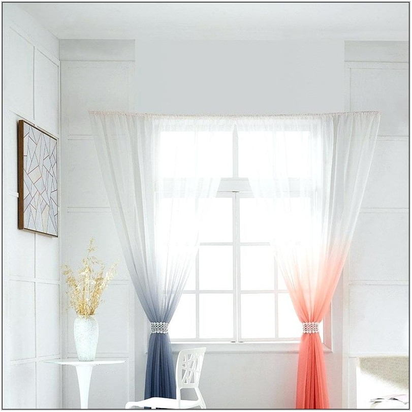 Peach Curtains For Living Room