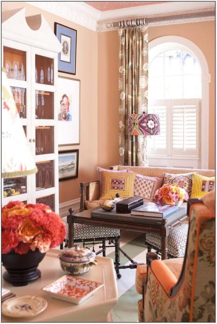 Peach Living Room Decor