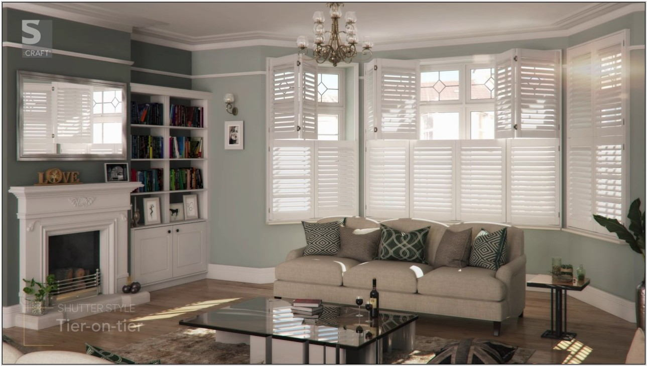Plantation Shutters Living Room