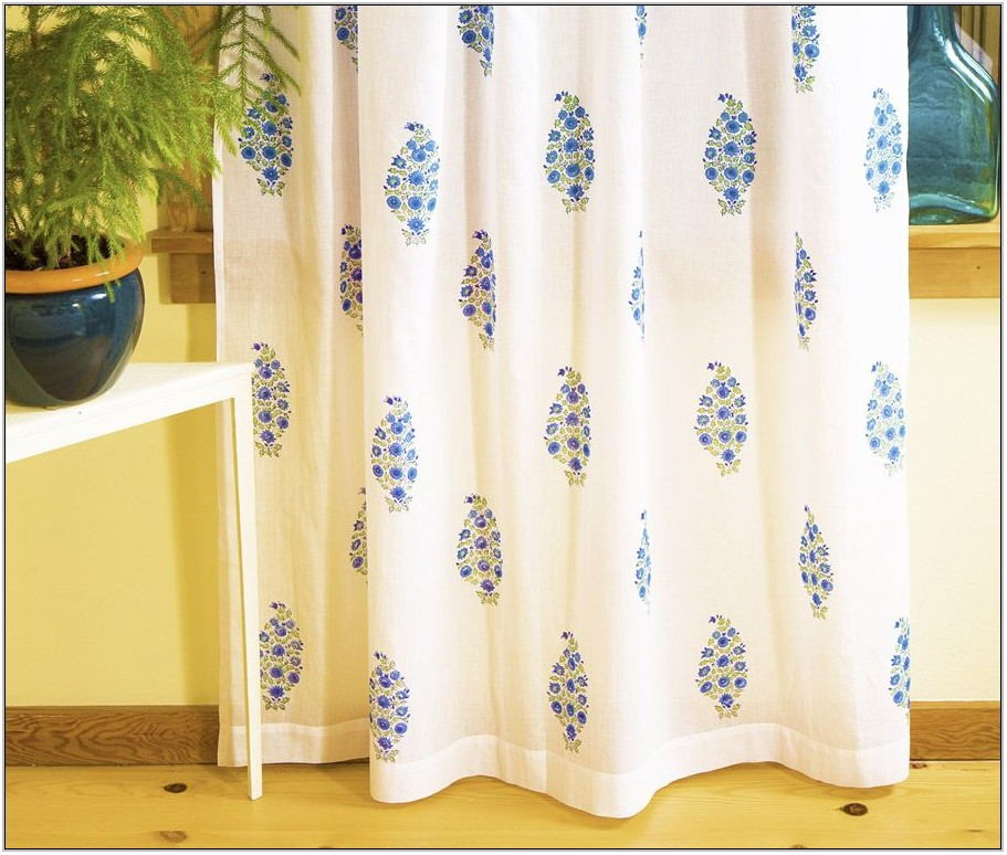 Printed Curtains Living Room