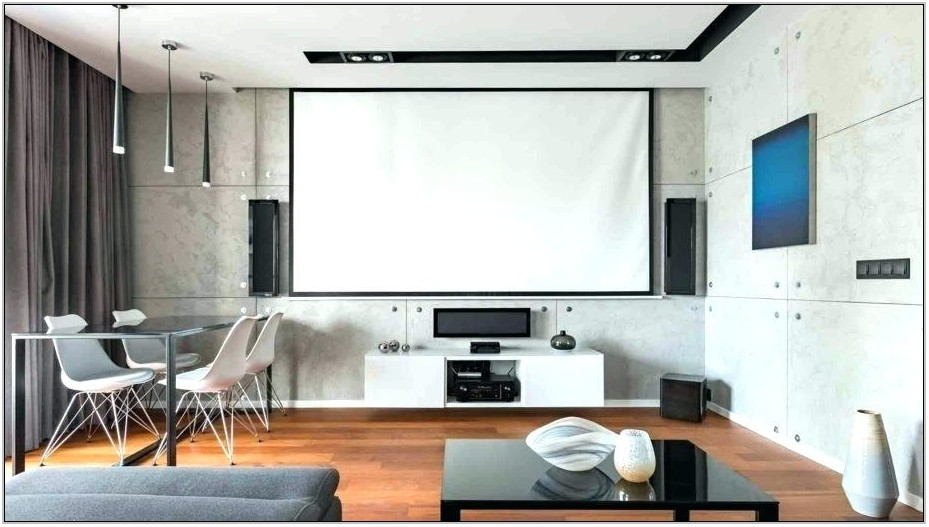 Projector Setup Living Room