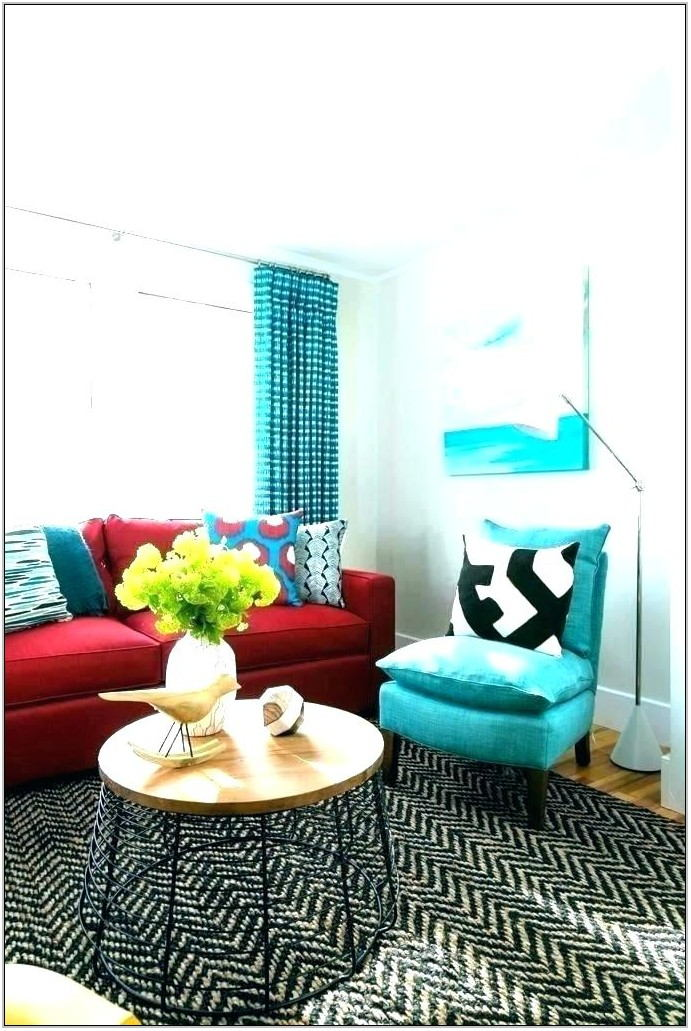Purple Grey And Turquoise Living Room