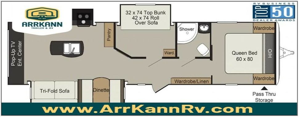 Rear Living Room Travel Trailers