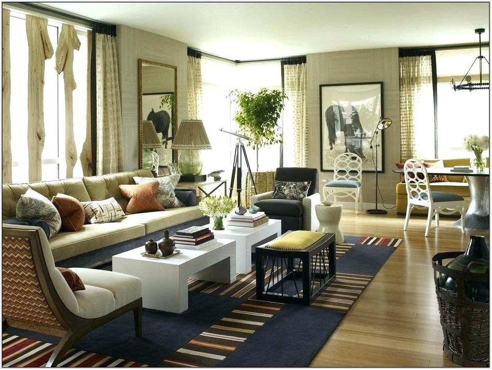 Rectangle Living Room Furniture Arrangement