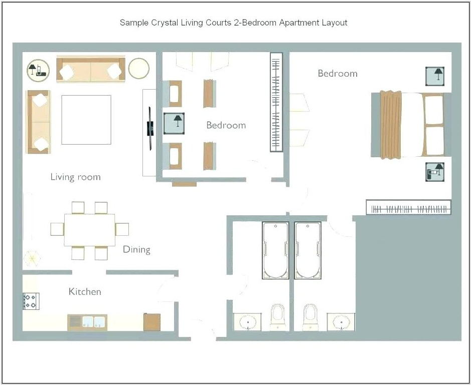 Rectangular Living Room Layout