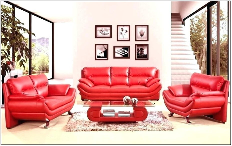 Red And Black Living Room Furniture Sets