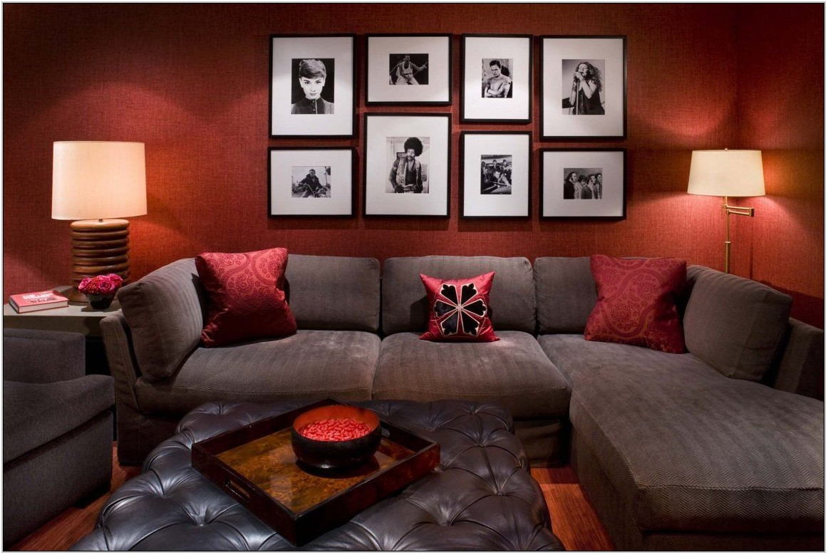 Red And Brown Living Room Furniture