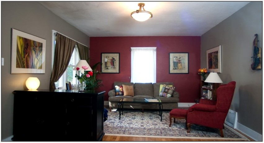Red And Taupe Living Room Ideas
