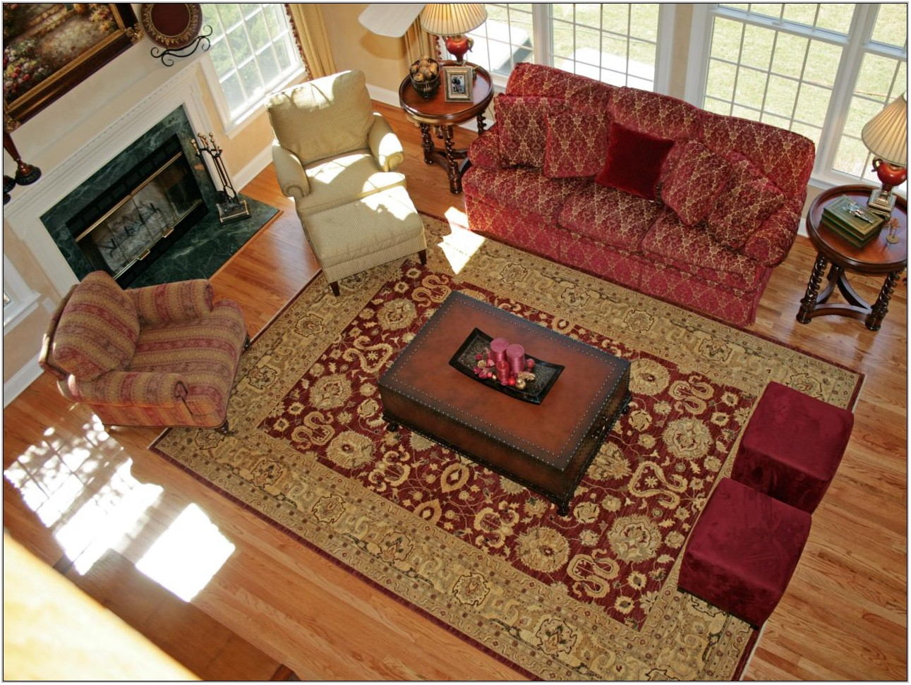 Red Area Rugs For Living Room