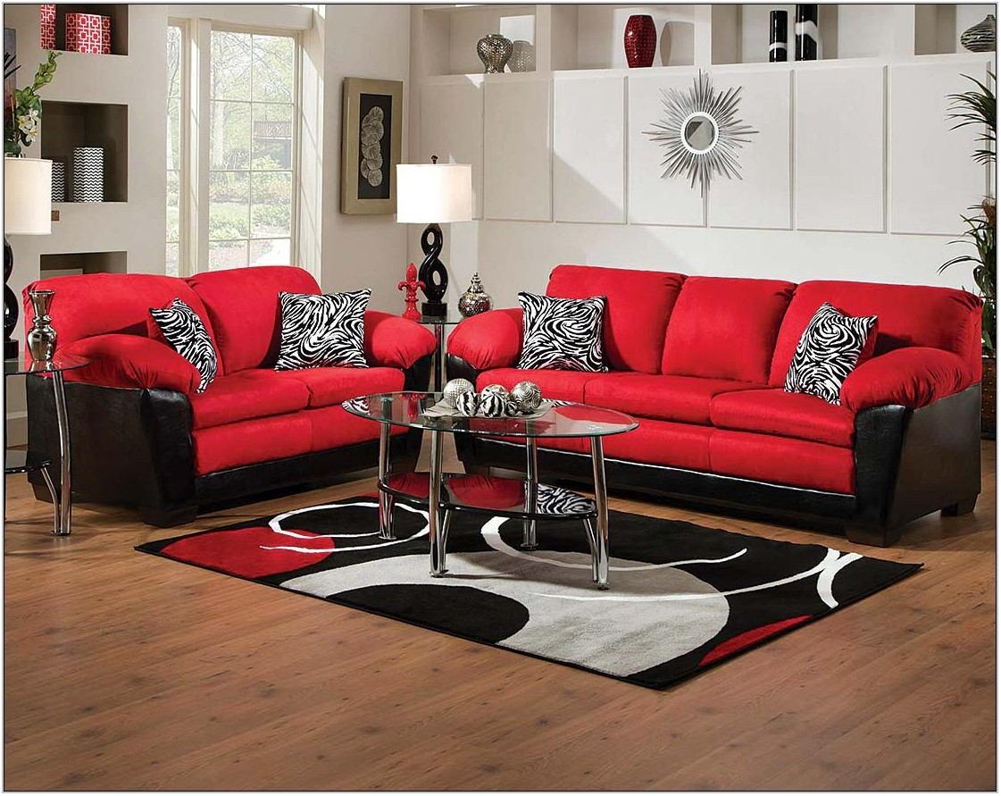 Red Black Living Room Furniture