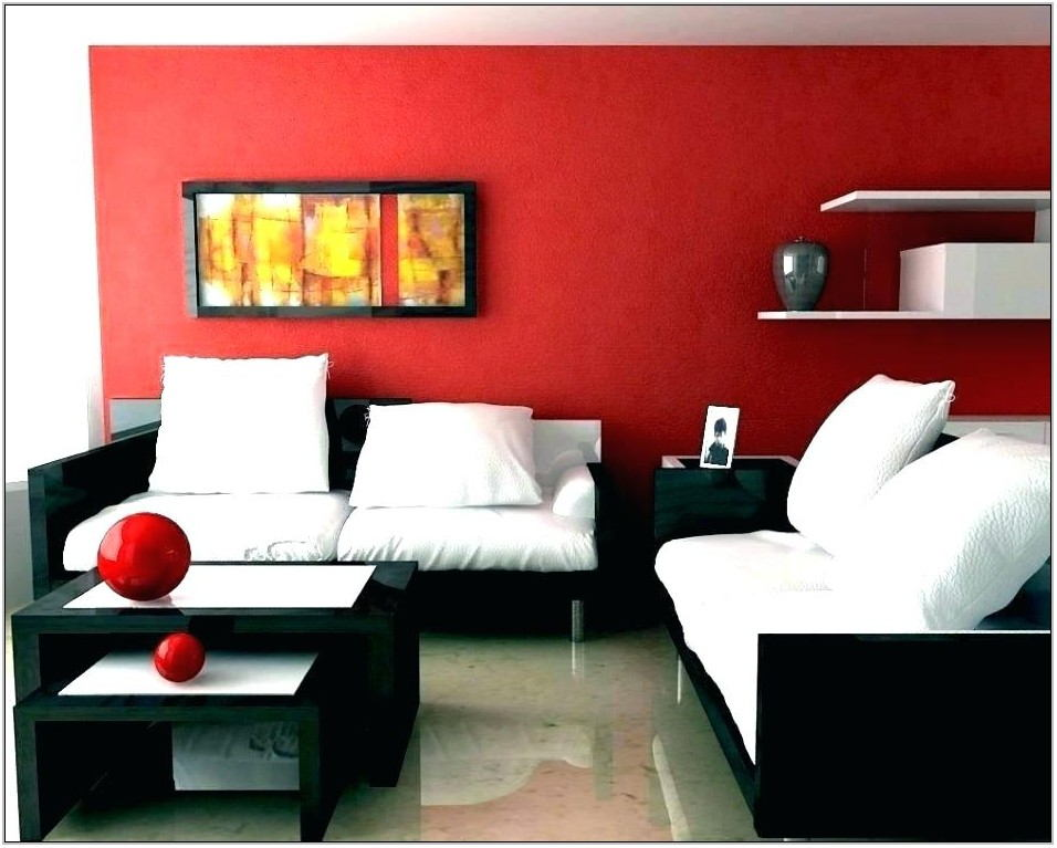 Red Color Living Room