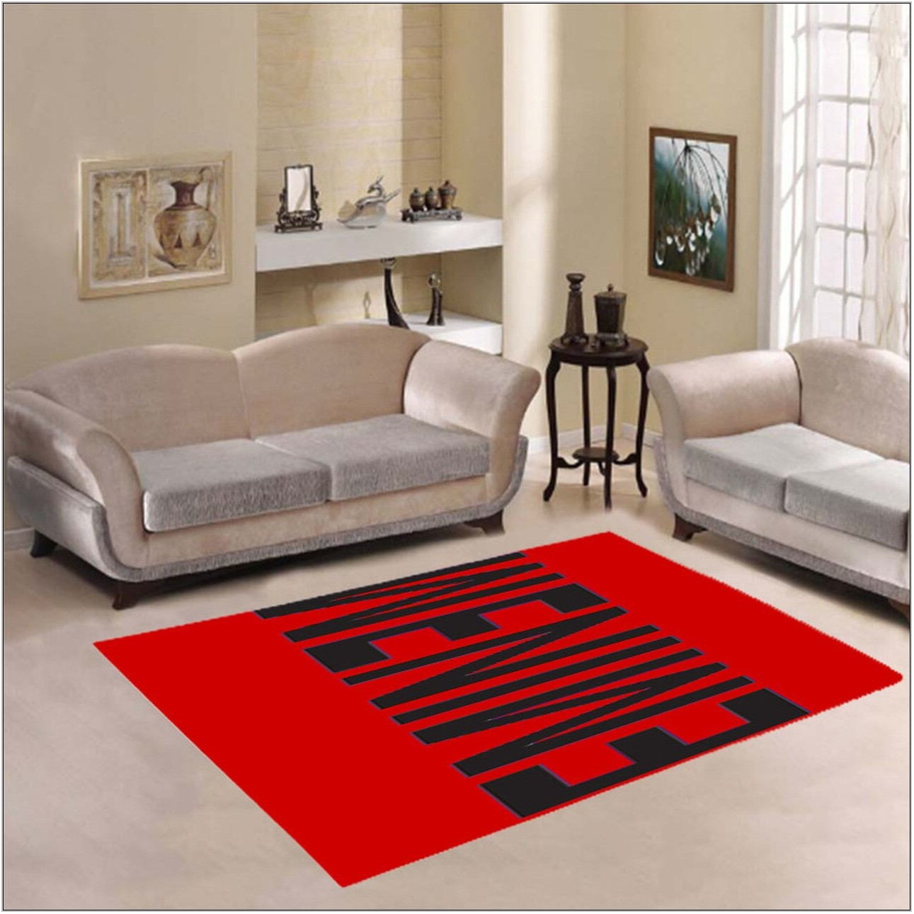Red Living Room Carpet