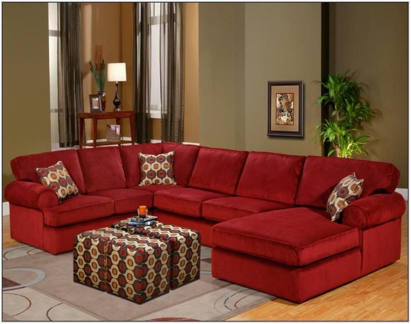 Red Living Room Sectional