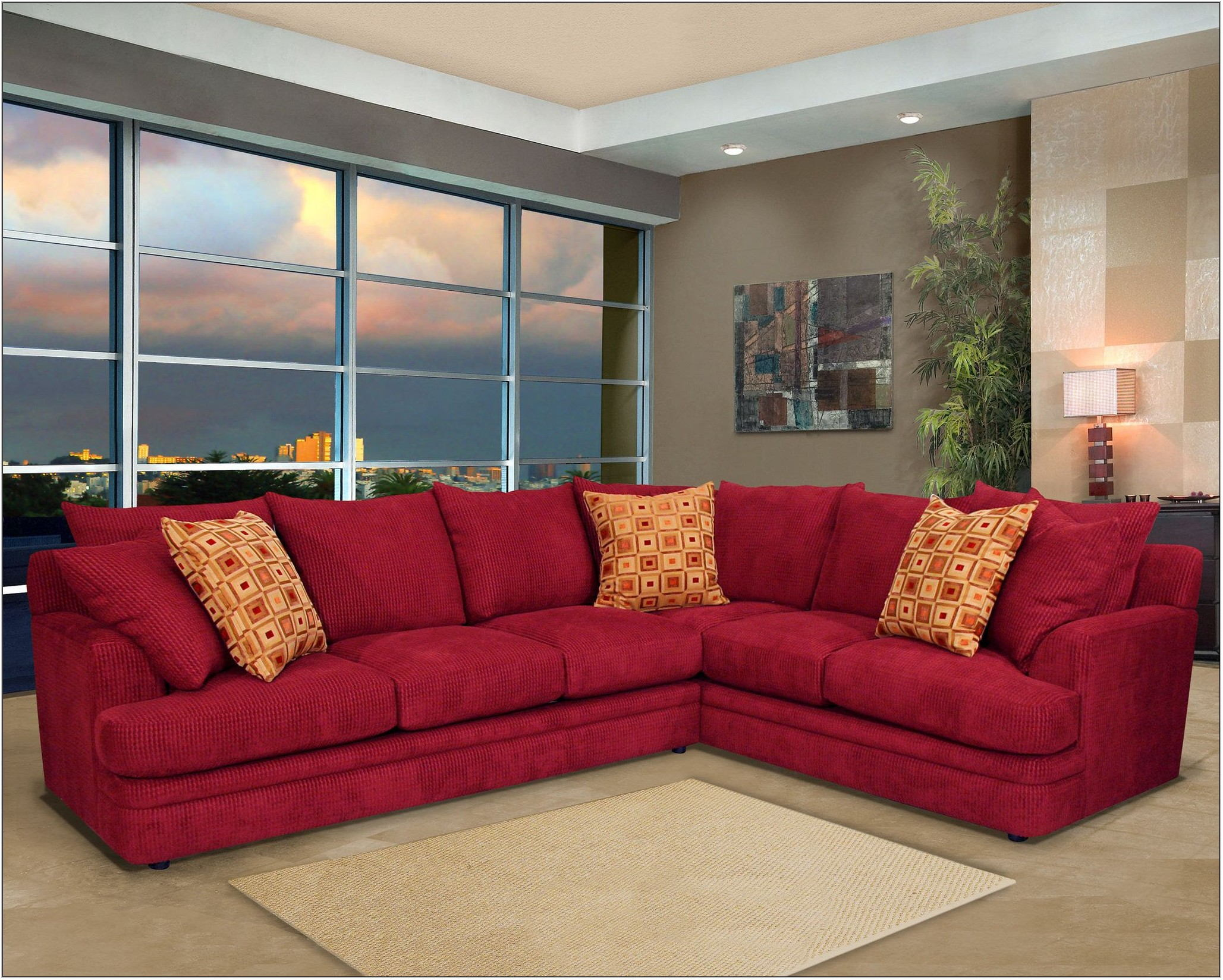 Red Living Room Sectionals