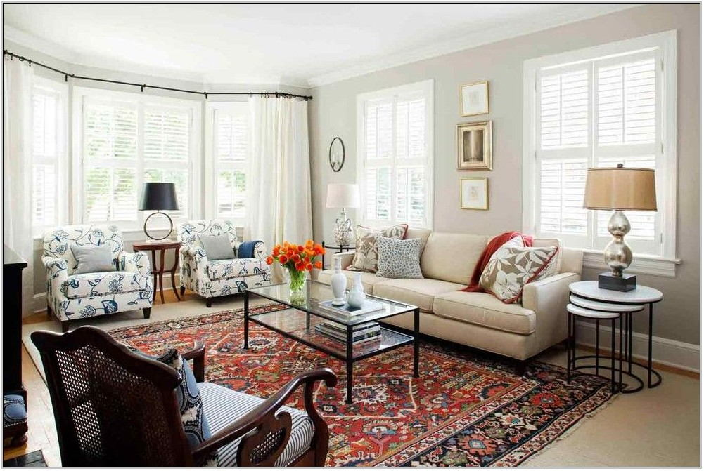 Red Oriental Rug Living Room