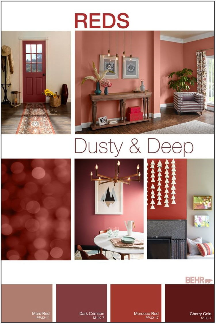 Red Paint Colors For Living Room