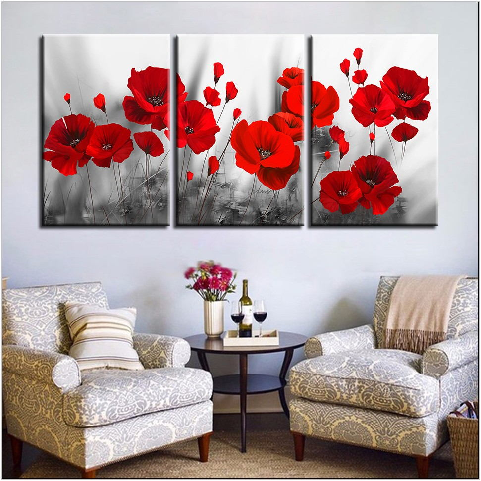 Red Pictures For Living Room