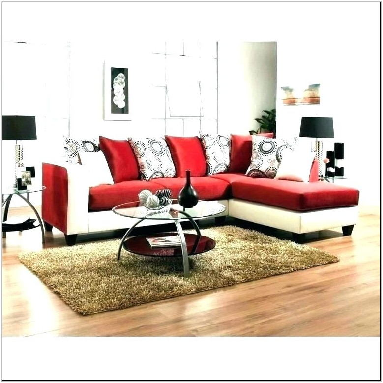 Red Sectional Living Room Furniture