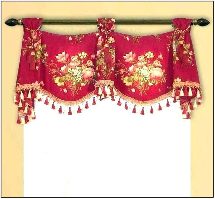 Red Valances For Living Room