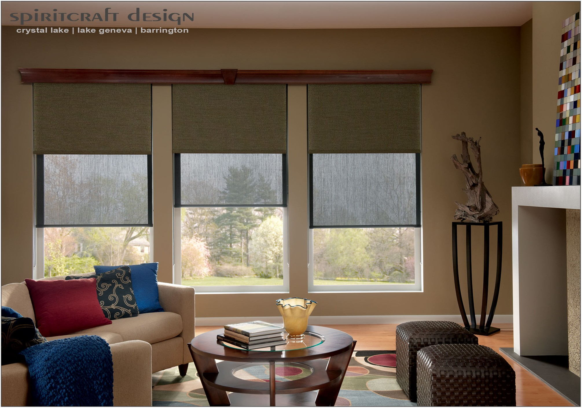 Roman Shades For Living Room Windows