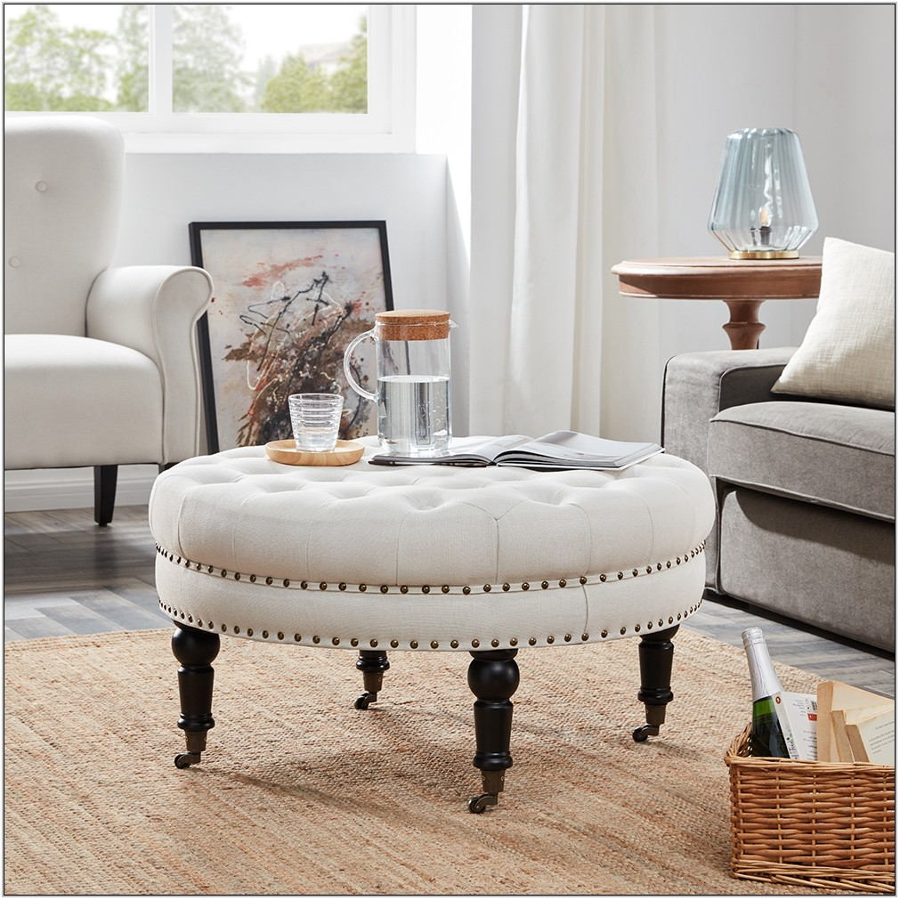 Round Living Room Ottoman
