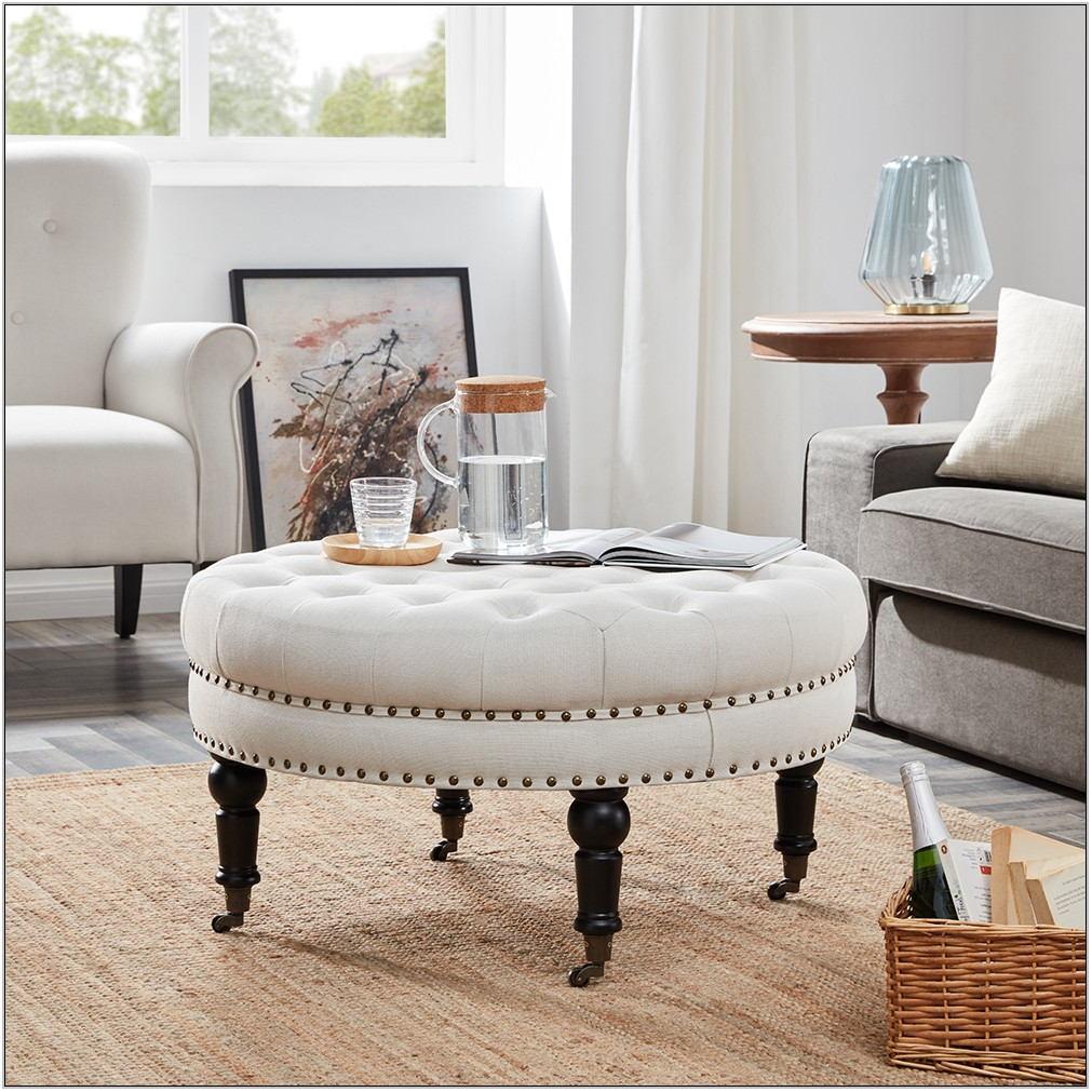 Round Living Room Ottoman