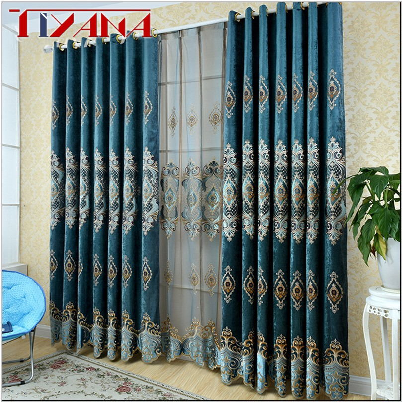 Royal Blue Curtains For Living Room