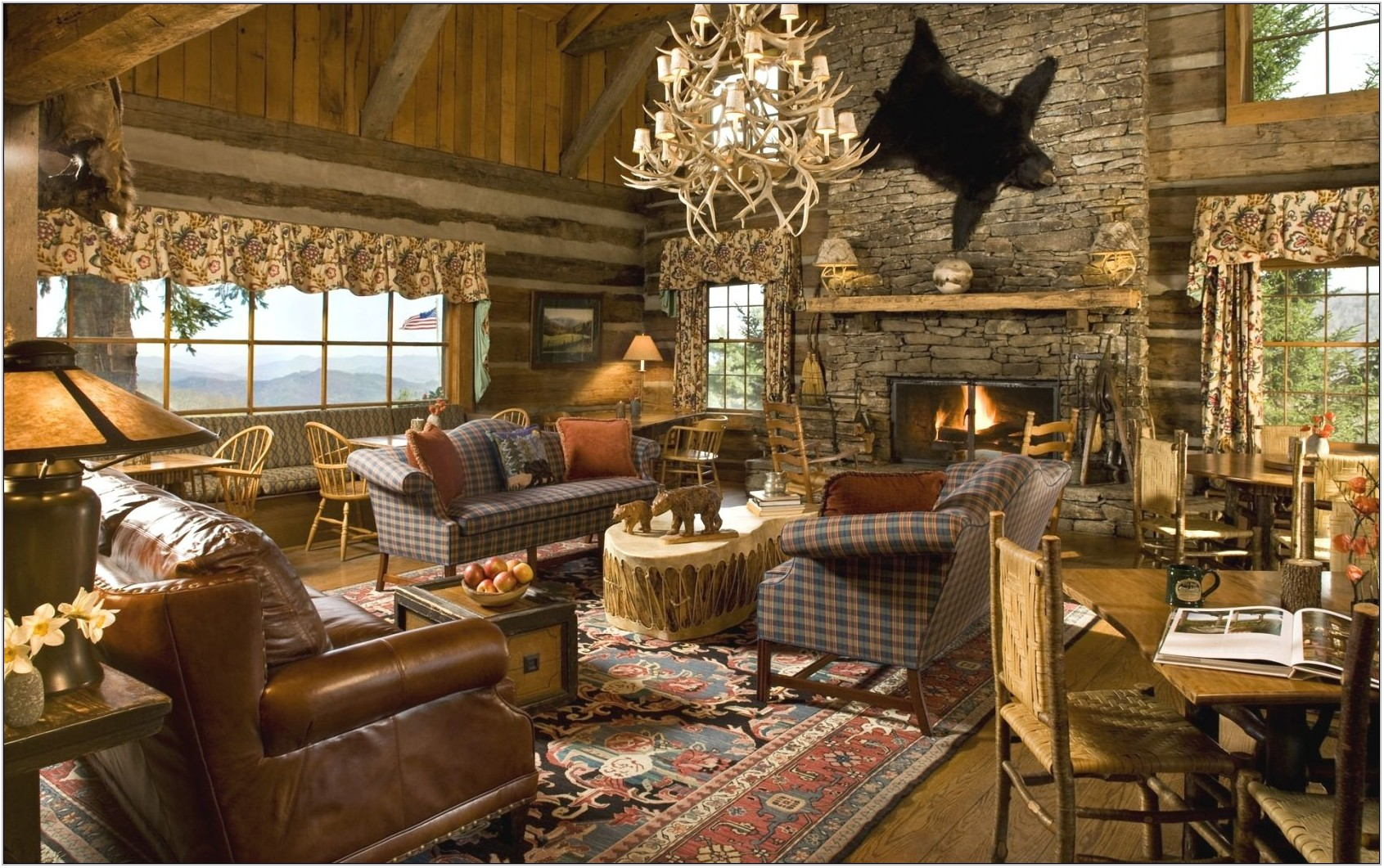 Rustic Cabin Living Room Furniture