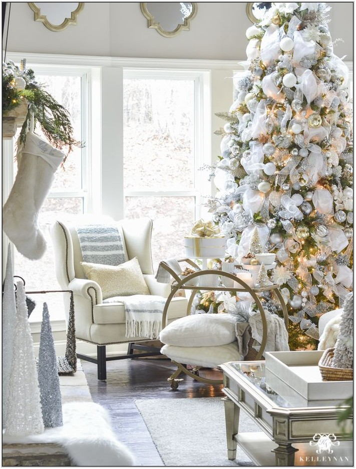 Silver And Gold Living Room