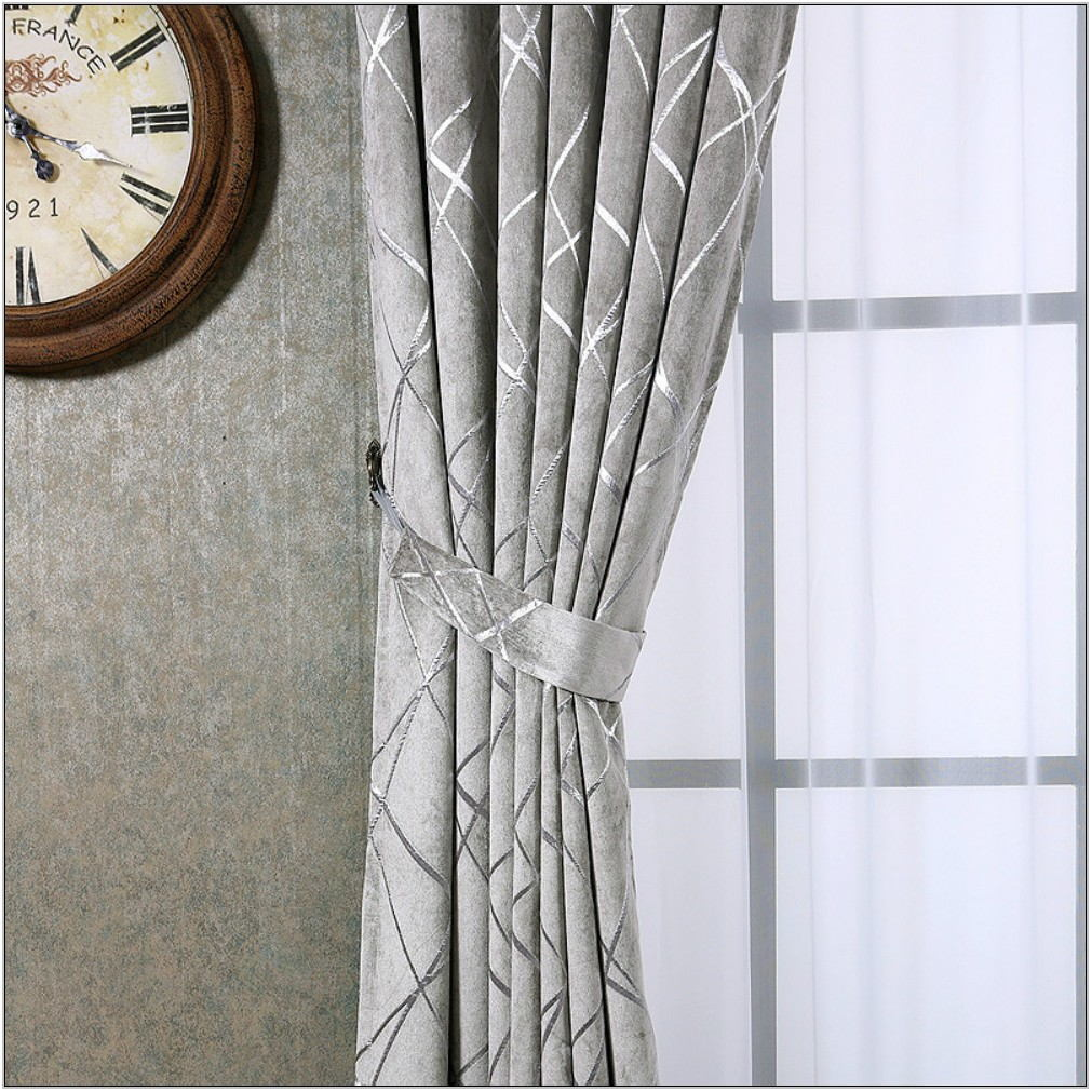 Silver Living Room Curtains