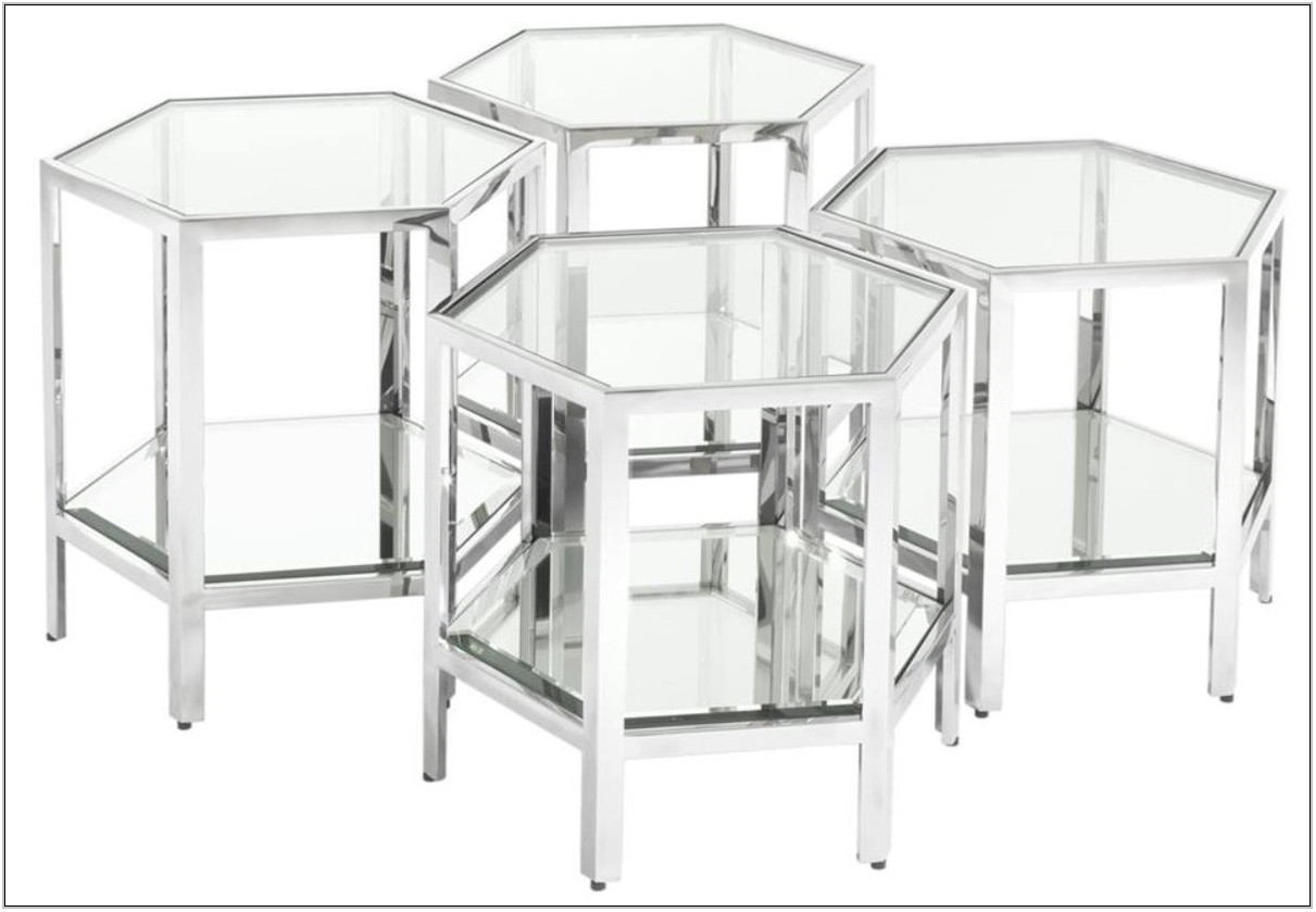 Silver Living Room Table Set
