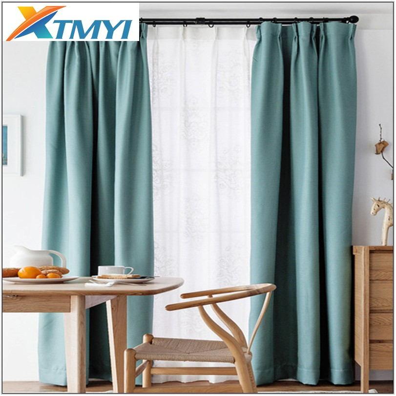 Sky Blue Curtains Living Room